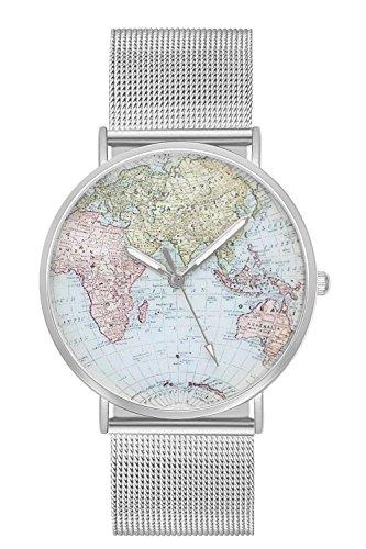 New Trend - Love for Accessories Damen Uhr analog Quarzwerk mit Edelstahl-Armband nt_07_01_000360