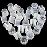 Tattoo Ink Caps Large - BoChang 500Pcs Ink Cups Base Hot Sale White Plastic Disposable Microblading Makeup Tattoo Ink Cups with Base, Pigment Ink Caps 17mm Large for Tattoo Ink,Tattoo Supplies