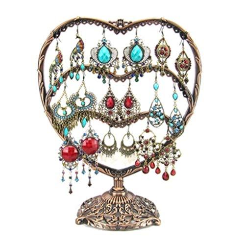 YUTR Collar Caja de Almacenamiento de Rack, gabinete de joyería Estante de Almacenamiento, Pendientes de joyería Pendientes Pendientes Perchas de joyería (Color : B)
