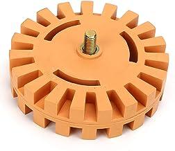 """Sticker verwijderen wiel, 4 """"Rubber gum wiel, Sticker Film Lijm verwijderaar, Pneumatische Decal Paint Cleaner Disc 25mm D..."""
