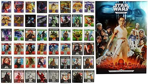 Starwars 48 cartas coleccionables 2019 + álbum de recortes Star Wars Kaufland acción coleccionable La saga completa de Skywalkers