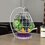 N/A FFCJZ Fer forgé européen Creux Basket Fruit Basket est Pas Facile à Rust 34 * 26 * 20.5cm Plateau de Fruits (Color : White)
