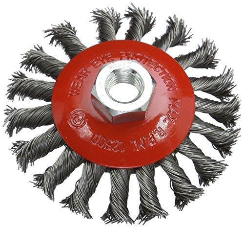 Silverline 633510 - Cepillo cónico de acero trenzado (100
