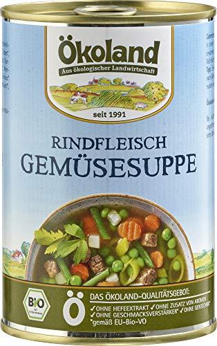 ÖKOLAND Bio Rindfleisch-Gemüse-Suppe (6 x 400 gr)