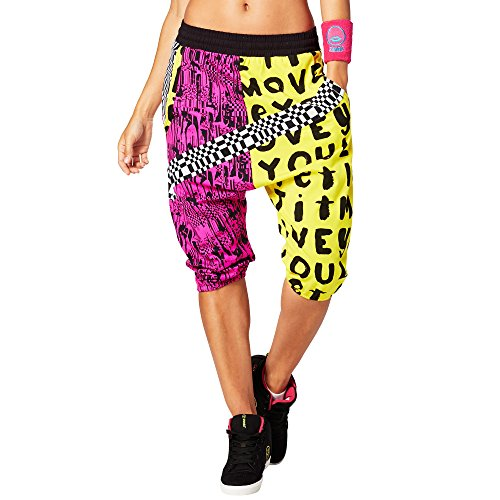 Zumba Fitness Damen Let It Move You Harem Dance Pants Frauenhosen, Mell-Oh Yellow, S