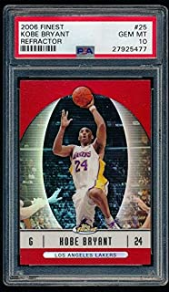 KOBE BRYANT BGS 9.5 GEM MINT LAKERS HOF 06-07 2006-07 FINEST RED REFRACTOR 25 SP