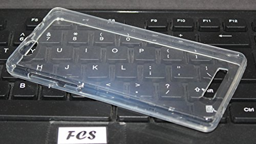 FCS Premium Clear Soft Silicon Transparent Back Case Cover for Xolo Era 4G
