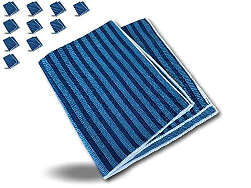 Kibros SERPMIC50X60 - Mopa de microfibra para suelo | Juego de 10 unidades | Lavadora y desengrasante | Ultra absorbente y recurrente
