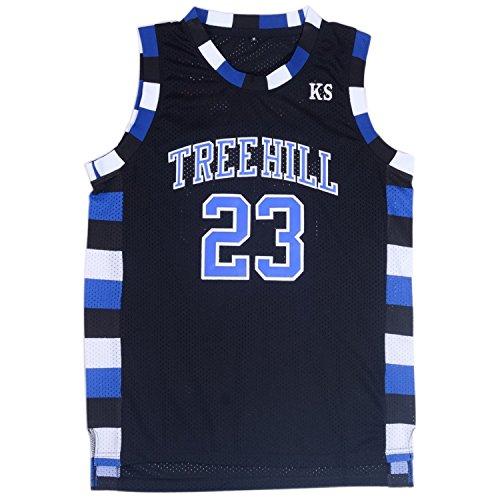 TUEIKGU Mens Ravens Basketball Jersey #23 Nathan Scott Sports Movie Jersey Black (Large)