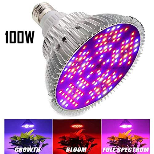 100W E27 LED Pflanzenlampe Grow Light Full Spectrum für Zimmerpflanzen Gemüse und Blumen