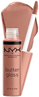 NYX PROFESSIONAL MAKEUP Butter Gloss - Madeleine (Mid-Tone Nude), Non-Sticky Lip Gloss