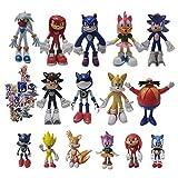 XIANGA Figura Grande de Sonic Regalos de Sonic Llavero Juguete de Metal Regalos de Sonic Muñeca Supe...
