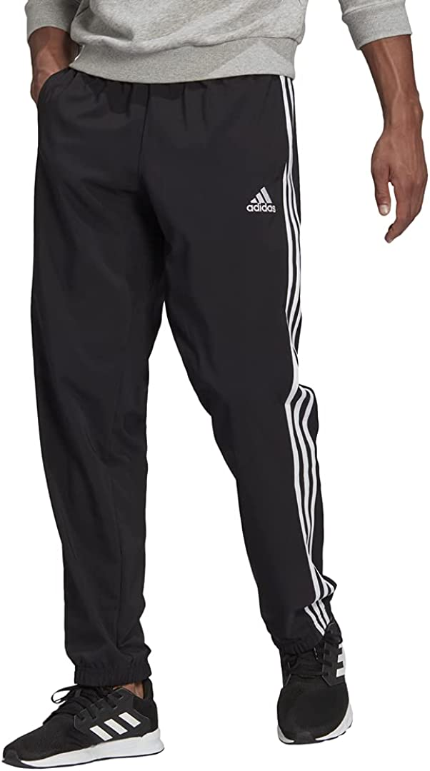 adidas Men's Aeroready Essentials 3-Stripes Cuff Pants Inventory cleanup selling sale Year-end annual account Elastic