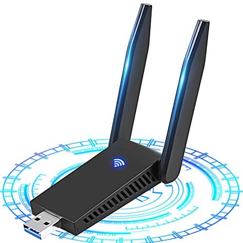 NETVIP WLAN Stick 1200Mbit/s, WLAN Adapter DualBand 867Mbit/s (5GHz), 433Mbit/s (2,4GHz) Netzwerk Empfänger für Desktop Laptop PC, USB 3.0 WiFi Adapter Kompatibel mit Windows 10/8.1/8/7 und Mac OS