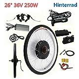 Kit de conversión para bicicleta eléctrica de 36 V, 250 W, 26 pulgadas, para bicicleta trasera de bicicleta eléctrica