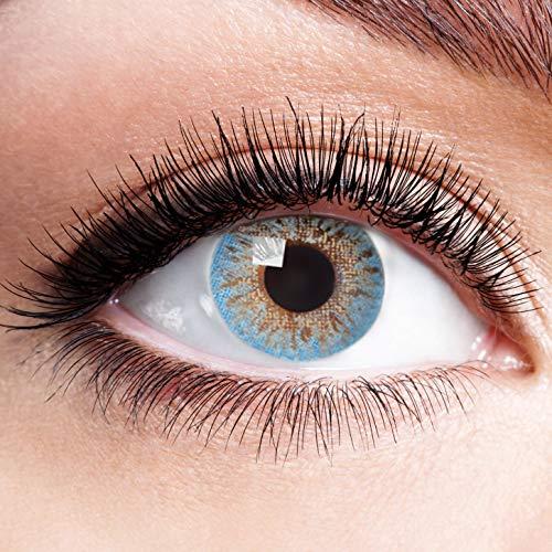 Farbige Kontaktlinsen Blau Ohne Stärke Weiche Natürliche Jahreslinsen Blaue Linsen Farblinsen 0 Dioptrien Natürlich Sky Blue 1 jahr Aqua Hellblau