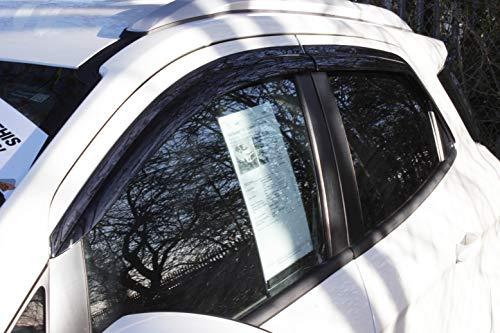 Windabweiser-Set, 4Stück, für Ford Ecosport, Farbe: Smoked