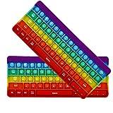 DBMGB 2 Teclado de Teclado Press Toy, Juguetes de Burbuja Pop, Anti ansiedad sensorial de Silicona Fidget Juguetes, para niños Adultos Autismo,4