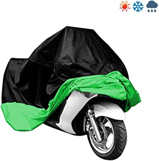 Black & Green Motorcycle Cover for Yamaha YZF R1 YZFR1 Bike UV Dust Protector L