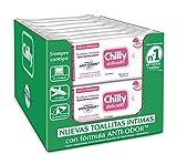 Chilly Pocket - Toallitas Chilly Delicado, Toallitas Íntimas Aptas para Uso Diario, Fórmula Suave, Caja 12 Uds x 12 Uds, Total 144 Uds