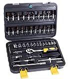 "AASONS™ Socket Set, 46 Pieces Spanner Socket Set 1/4"" Car Repair Tool Ratchet"