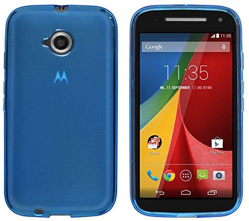 kazoj Schutzhülle kompatibel mit Motorola Moto E 2. Generation Hülle aus TPU in blau