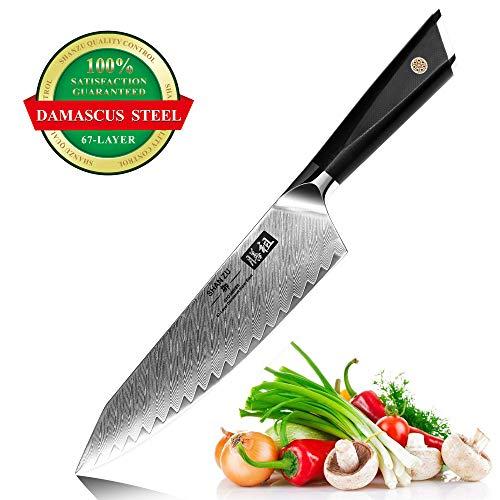 puissant SHANZU Damas Chef's Knife 21cm Fabriqué au Japon AUS10 Damas Steel 67 Layer Steel Chef's Knife…