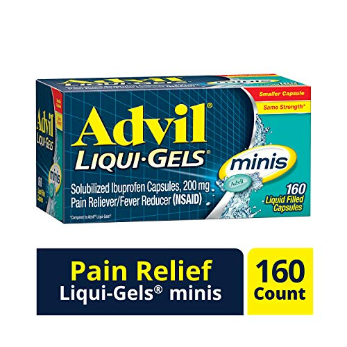 Price comparison product image Advil Liqui-Gels Minis Pain Reliever and Fever Reducer,  Ibuprofen 200mg,  160 Count,  Fast Pain Relief,  Pocket Pack