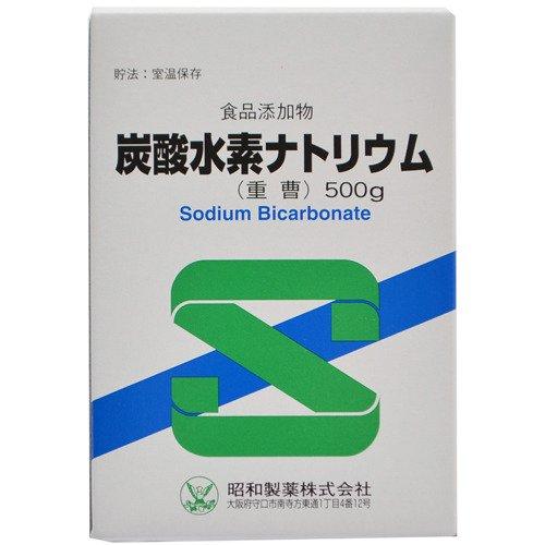 昭和製薬 炭酸水素ナトリウム(食品添加物) 500g