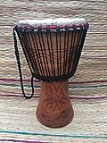 Tambor africano genuino Djembe – cabeza extra grande de 14 pulgadas con 3 instrumentos gratis por valor de £28