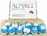 Refugee Bath Co. Variety Pack Bath Bombs | TEA TREE and EUCALYPTUS essential oils | Pure Cocoa...