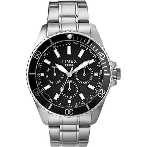 Timex Men's Dress Analog 44mm Stainless Steel...