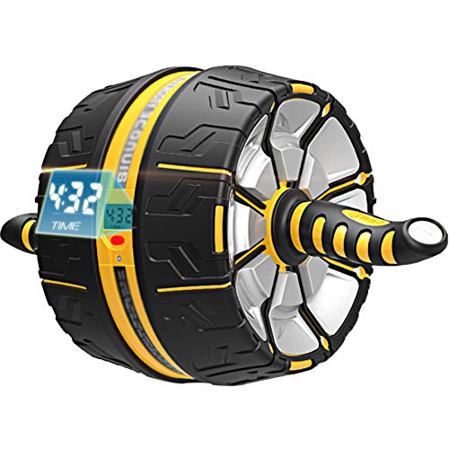 Material de gimnasio Fitness AB Roller, Reducción del vientre Equipo de aptitud para principiantes para el hogar, ruedas musculares abdominales masculinas y femeninas, rodillo de rebote automático, mo