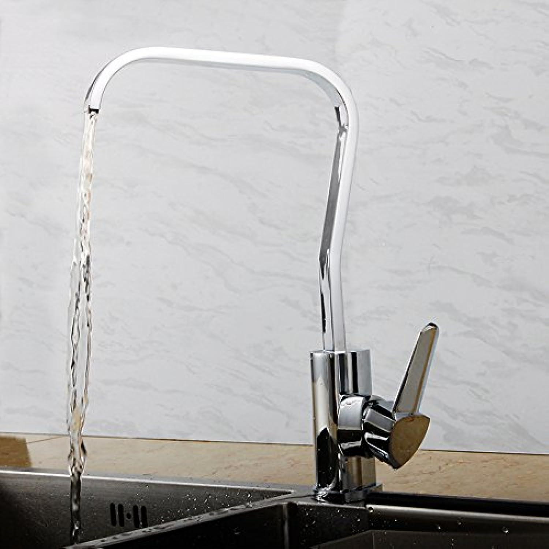 SHLONG Tap Copper Single Handle Single Hole redatable Kitchen Faucet