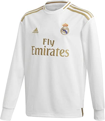 Adidas 2019-2020 Real Madrid Home manche longue Football Soccer T-Shirt Maillot (Enfants)