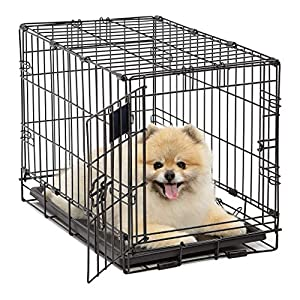 Life Stages LS-1622 Single Door Folding Crate for X-Small Dogs(2 – 10lbs)