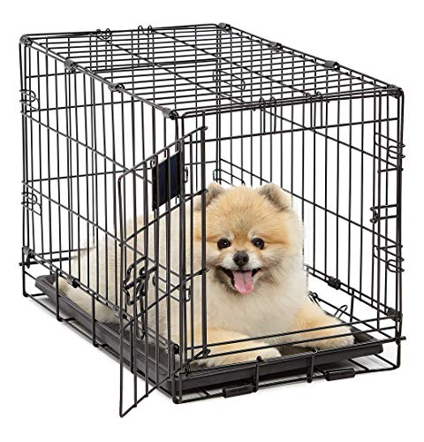 Life Stages LS-1622 Single Door Folding Crate for X-Small Dogs(2 - 10lbs)