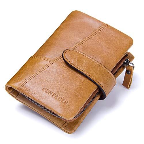 Contacts, portafogli da uomo in vera pelle, con scomparti per carte di credito, Sandstone (Marrone) - 10440758
