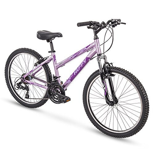 Huffy Hardtail Mountain Trail Bike 24 inch, 26 inch, 27.5 inch, 24 Inch Wheels/15 Inch Frame, Gloss Lavender