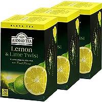 AHMAD TEA ( アーマッドティー ) レモン & ライム ティーバッグ 20袋 ×3個 [ 英国ブランド 個包装 ]
