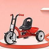 GYF Triciclo portátil para niños y exteriores, con marco de acero, año de 3 colores, 53 x 75 x 46 cm (color: rojo)