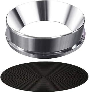 コーヒードージングリング、エスプレッソドージングファンネルアルミニウムコーヒードージングリング交換用 ドッシングリング ステンレススチール製(Dosing Ring -fit for Portafilter 51mm)