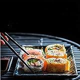 Annvchi EssStäbchen 10 Paar - Japanische Chopsticks Schwarz Stäbchen für Asiatisches Geschirr - 8