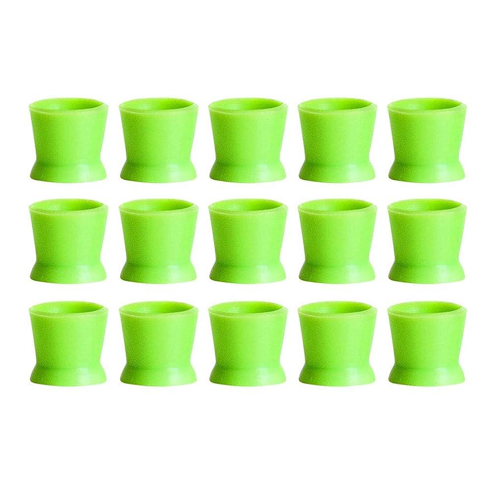 火薬崇拝しますブリークHealifty 300PCSシリコンタトゥーインクカップ使い捨てマイクロブレーディングピグメントキャップホルダーコンテナ永久的なまつげメイクアップアイブロー(グリーン)