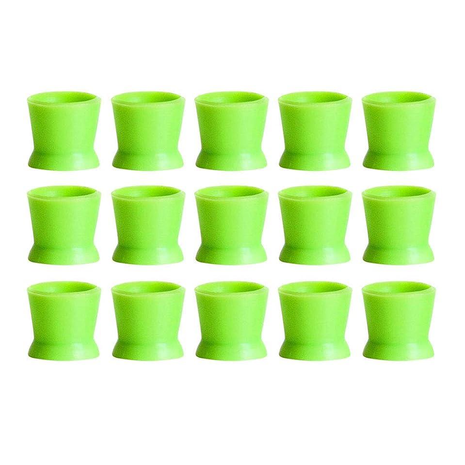 グリル聖人説教Healifty 300PCSシリコンタトゥーインクカップ使い捨てマイクロブレーディングピグメントキャップホルダーコンテナ永久的なまつげメイクアップアイブロー(グリーン)