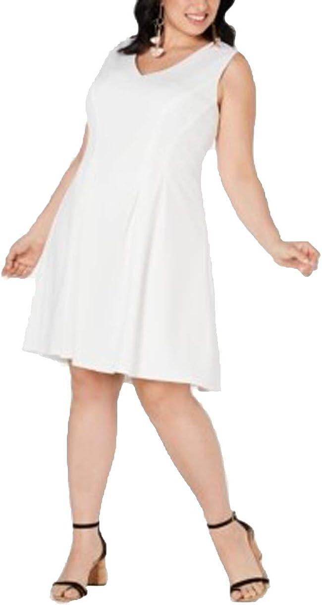 Teeze Me 爆売り Plus Size Dress Flare テレビで話題 Fit V-Neck