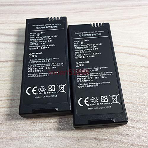 2 x 1100mAh Batteries for Ryze Tech DJI Tello Battery Batteries (Black)