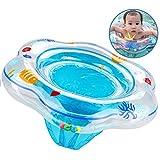 Anillo de natación para bebé, flotador de natación inflable de la piscina del bebé con asiento para niños Piscina de natación, Flotador de natación para bebé para niños pequeños 6 a 36 meses azul