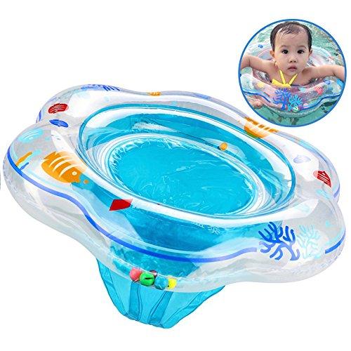 Baby Schwimmring Blau, Aufblasbare Schwimmring Pool Schwimmen Float mit Schwimmsitz für Kinder Planschbecken, Baby Schwimmhilfe für Baby von 6 Monate bis 36 Monate (Pflege Unter Erwachsene)
