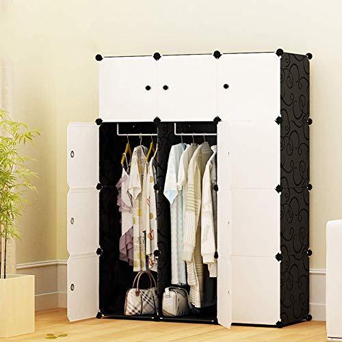 ZLMI Simple Armoire Simple Moderne Assemblée Petite Armoire Chambre en Plastique Combinaison Rangement casier,111 * 47 * 147CM